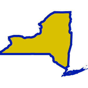 Yellow and blue icon of New York